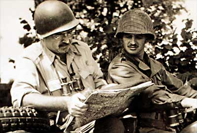 Image result for photo of ernest hemingway during wwii in europe