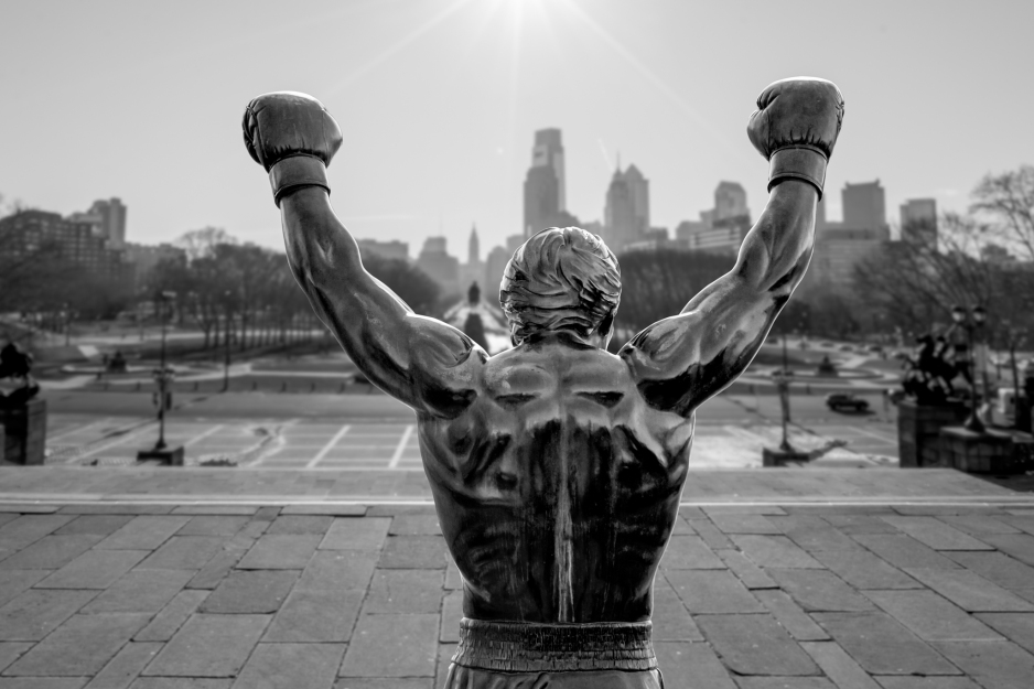 Image result for photo of rocky statue in Philadelphia