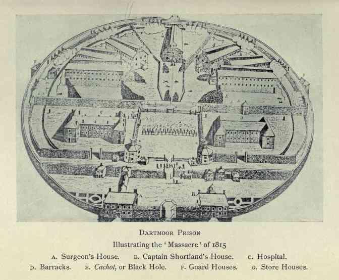 Image result for photos of dartmoor prison War of 1812