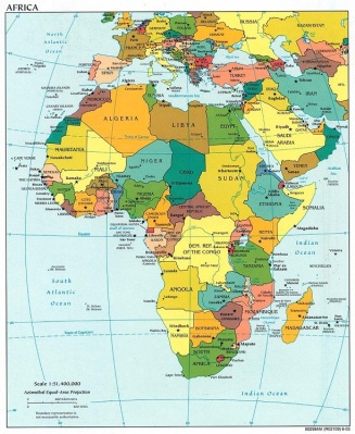 Map of Africa Political Picture